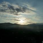 SP39 in Italy, sundown